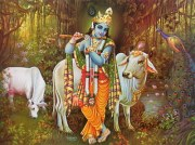 Krishna and Cow